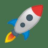 Rocket ship emoji